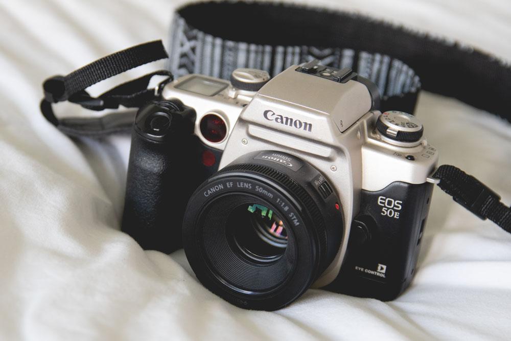 Canon EOS 50E, analoog, analoge camera, analoge canon camera, canon, canon eos elan 2